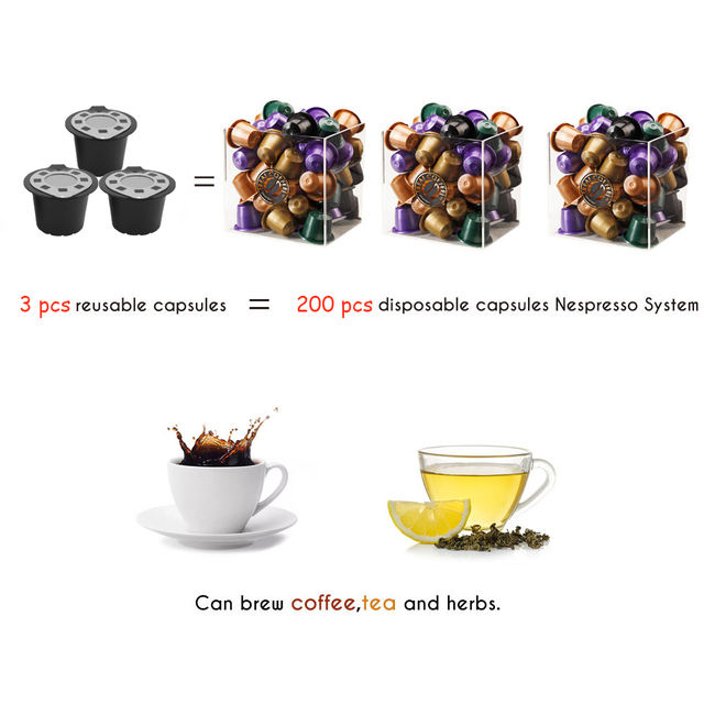 Reusable Compatible with Nespresso capsule for Nespresso coffee machine