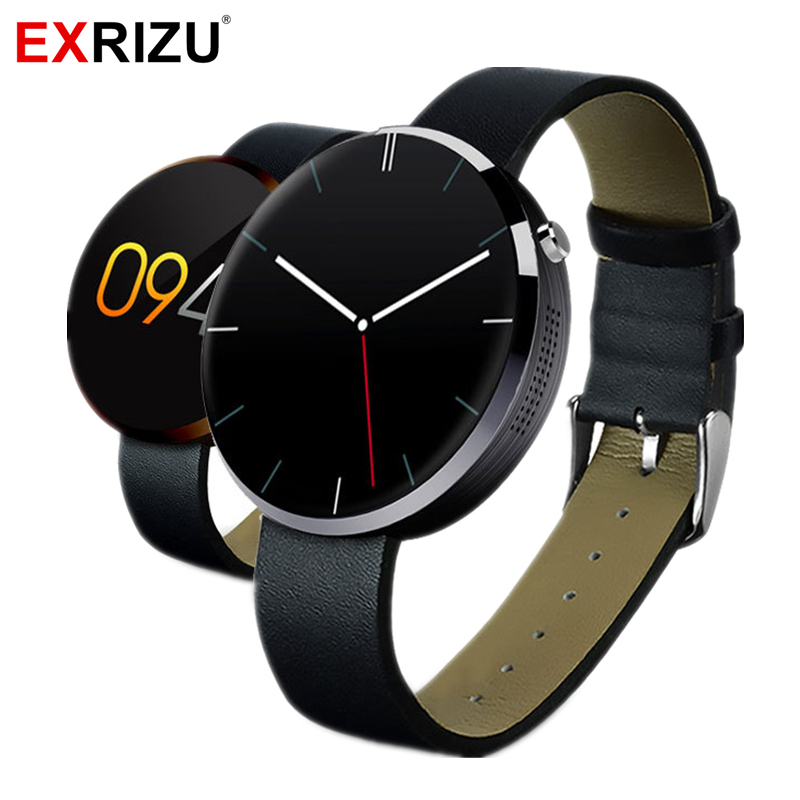 EXRIZU DM360 Fashion Smart Watch Heart Rate Monitor MTK2502c Pedometer IPS 1.22 Screen Fitness Tracker for Apple Android Phone wireless heart rate monitor watch smart pedometer fitness tracker for sports