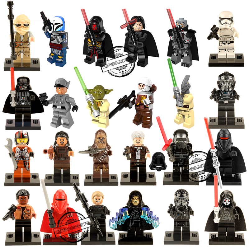 Star Series Space War Sale Storm Strooper Royal Guard Han Solo Count Dooku Darth Vader Maul Figures Building Blocks Kids Toys