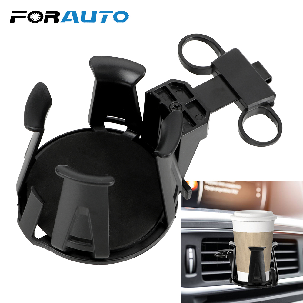 Black Plastic Suction Cup Holder Mount for Drinking Bottles for Car Vehicle