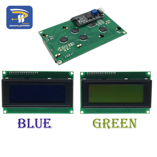 US $4 1 |LCD module Blue screen IIC/I2C 2004 HD44780 5V LCD for Arduino DIY  KIT Yellow green screen provides library files-in LCD Modules from