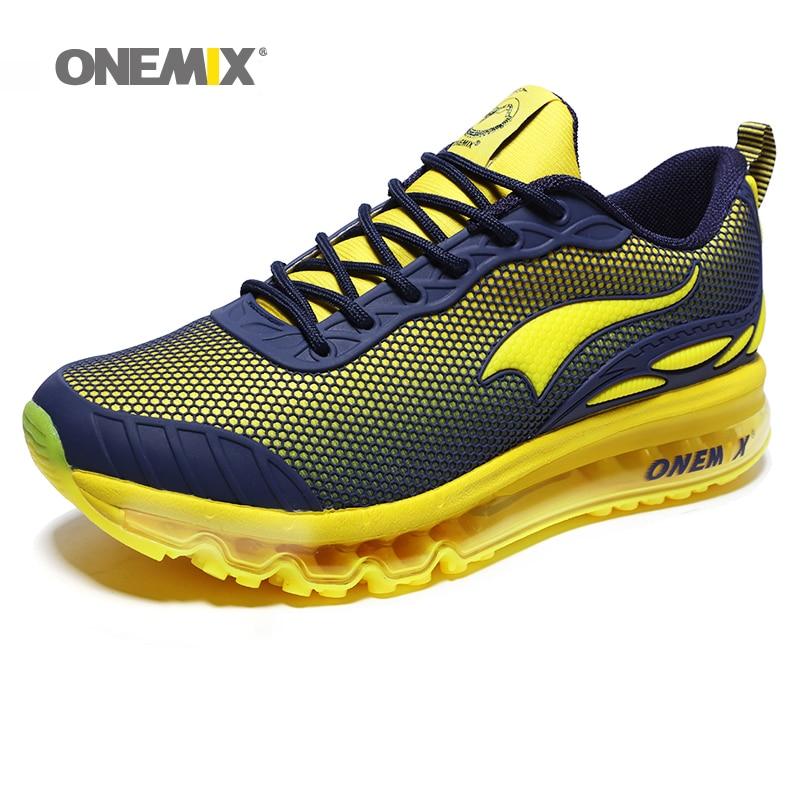 ONEMIX hombre zapatillas para correr Max Size 12 Nice Trends correr malla transpirable hombres Jogging zapato deporte para caminar al aire libre zapatillas cojín - 3