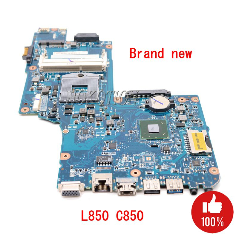 NOKOTION NEW H000038380 H000038370 Main Board For Toshiba satellite C850 L850 Laptop Motherboard HM76 GMA HD4000