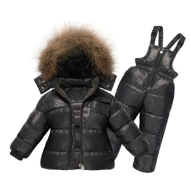 fbce76c3e Children Winter Clothing Set Boys Ski Suit Girl Down Jacket Coat + ...
