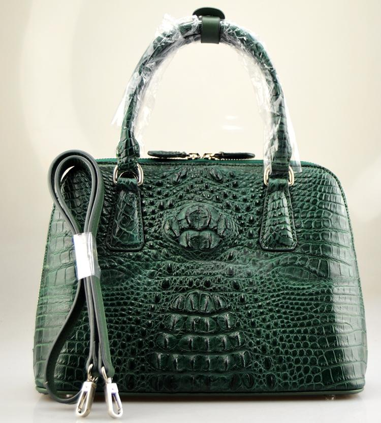 100% genuine crocodile skin leather Shell women handbag, Alligator Skin Women Messenger Tote Bag цена