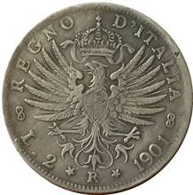 1901 Italy 2 lire COINS COPY(China)