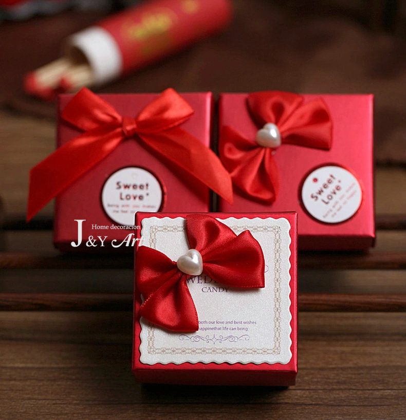 Wedding decoration romantic candy boxes chocolate boxes for Wedding gift decoration