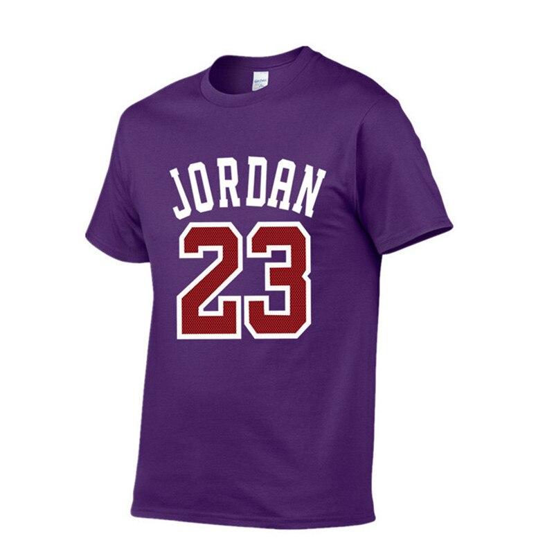 2018 New Brand Clothing Jordan 23 Men   T  -  shirt   Swag   T  -  Shirt   Cotton Print Men   T     shirt   Homme Fitness Camisetas Hip Hop Tshirt