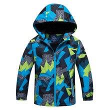 Детская теплая куртка, зимняя верхняя одежда для мальчиков и девочек от дождя, спортивная одежда с капюшоном, двухслойные водонепроницаемые куртки для мальчиков и девочек 2020