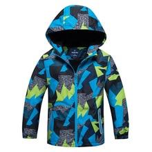 2019 เด็กเสื้อแจ็คเก็ตที่อบอุ่นฤดูหนาวเด็ก Rain Outerwear กีฬา Hoodie เสื้อผ้าคู่กันน้ำกันน้ำ Boy Girl แจ็คเก็ต