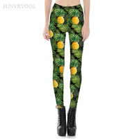 Cropped Pineapple 3D Leggings Women Hot Sale Fruit Capris Legging Pant Workout Sportswear Ladies Skinny Bodyshapers