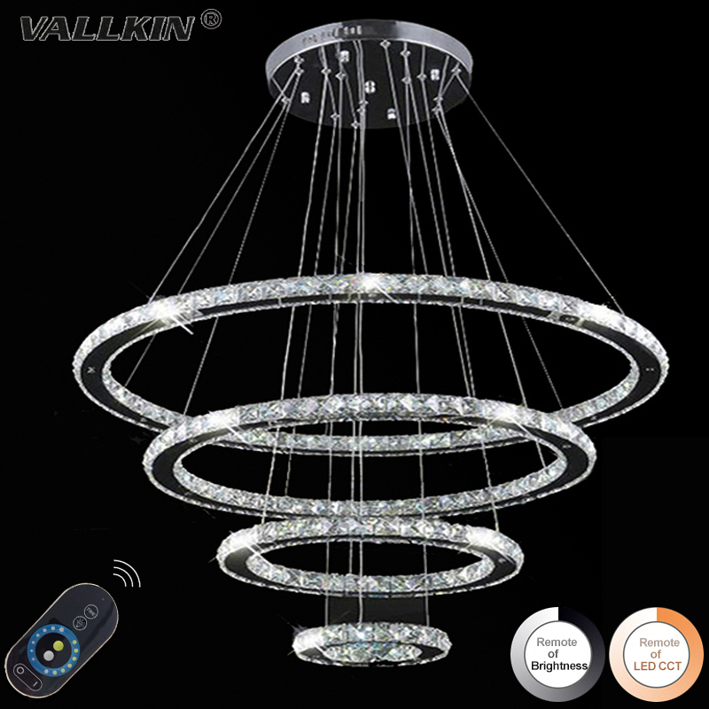 Diamond Crystal Ring LED Pendant Light Crystal Lamp Modern Crystal Light Circle Hanging Lustres LED Luminaire Lighting Dimmable crystal circle pendant lamp for dining room modern crystal pendant light luminaire dining room hanging lamp diamond ring light