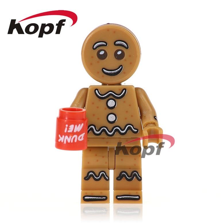 50Pcs PG1031 Super Heroes Chicken Suit Unicorn Girl Gingerbread Man Inhumans Royal Family Building Blocks Children Gift Toys