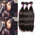 Brazilian Virgin Hair Straight 4 Bundles Mink Brazilian Hair Grade 7A Unprocessed Virgin Brazilian Straight Human Hair Weave