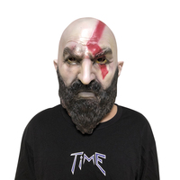 Game God Of War 4 Helmet Mask Cosplay Kratos Horror Scary Latex Masks Halloween Party Props