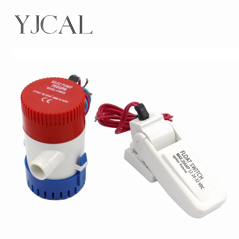 Bilge Pump 750GPH DC 12V 24V Float Switch Combination Suit Electric Water Pump For Aquario Submersible Seaplane Motor Homes