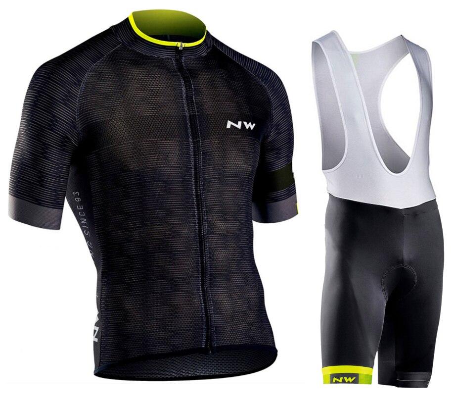 цена на Northwave NW 2018 Summer Cycling Jersey Short Sleeve Set bib shorts MEN MTB Bicycle Clothes Maillot Culotte Clothing Sportwear