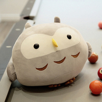 Soft and Cute feather cotton sitting posture owl plush toy 35cm soft owl pillow cushion lover children Toy desktop decoration