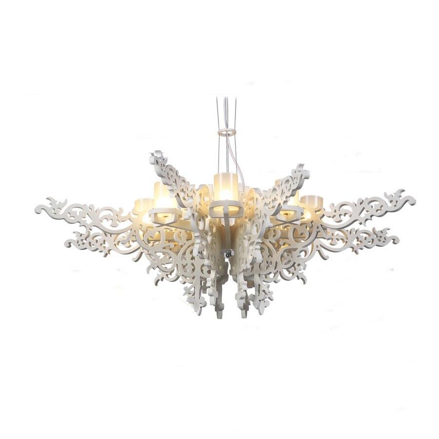 Wonderland Modern Chandelier Milan Angel Wings European Elegance Lamp White Dia100cm G9 Lighting 110V/220V 2016 New Hot PLL-8 modern elegance