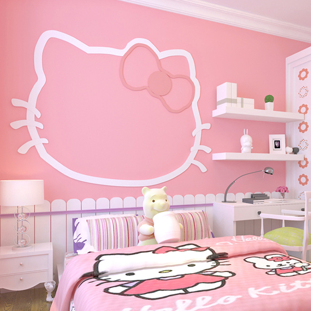 Pink Princess Room Bedroom Non Woven Fabric Wallpaper For Walls Roll Solid Color Background Wall Decoration Paper