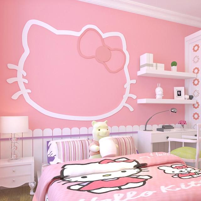 Rosa Prinzessin Zimmer Schlafzimmer Vlies Stoff Tapete Für Wände Rollen  Solide Farbe Mädchen Zimmer Hintergrund Wand