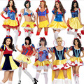 2016 new Plus Size Adult Snow White Costume Fairy tale Clothes high quality cosplay Dress Carnival Halloween Costumes For Women