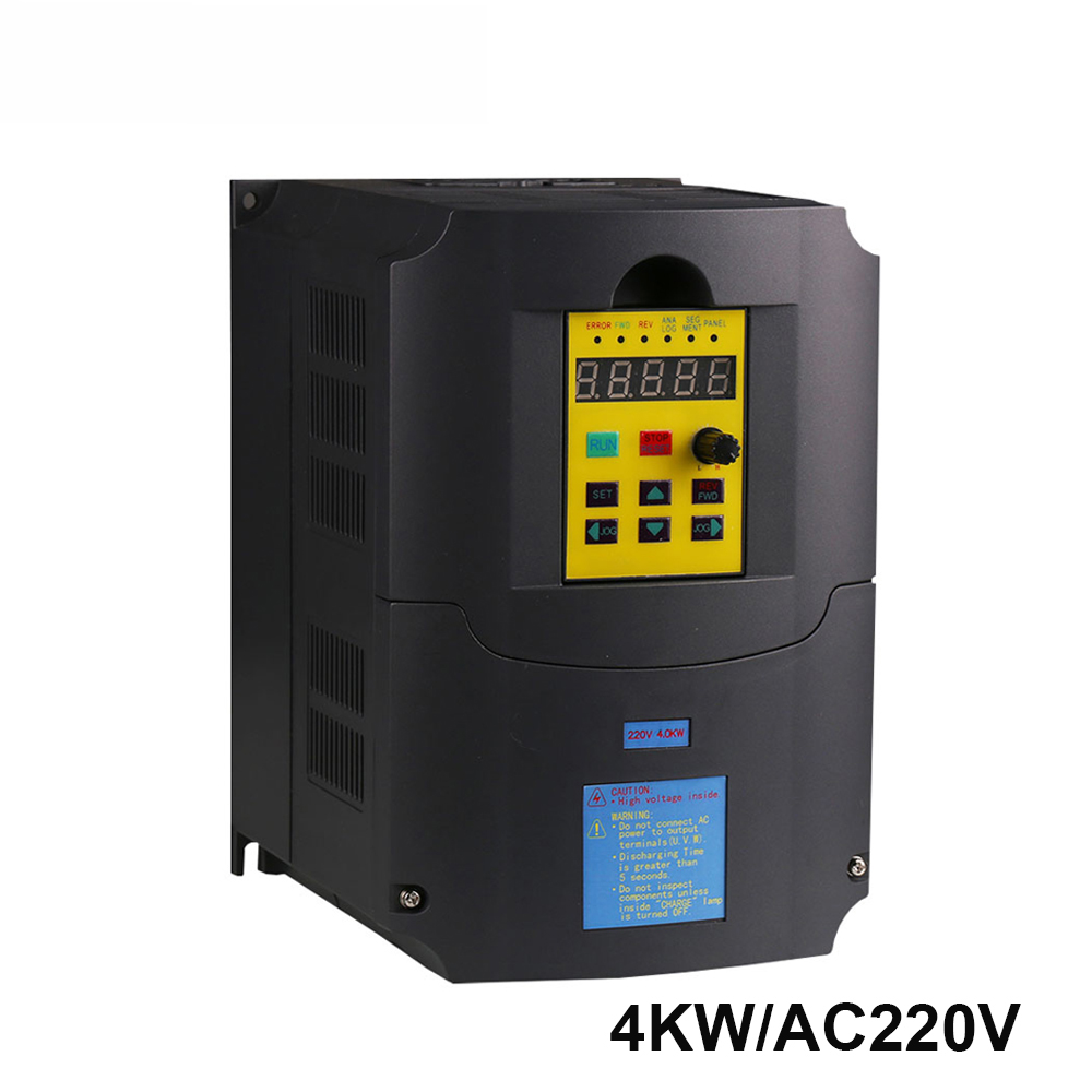 220v 4kw Frequency Inverter 1 phase input and 220v 3 phase output frequency converter/ac motor drive/ ac drive/ VSD/ VFD/50H inverter accessories acs600 frequency converter drive plate ngdr 03c and ngdr 03