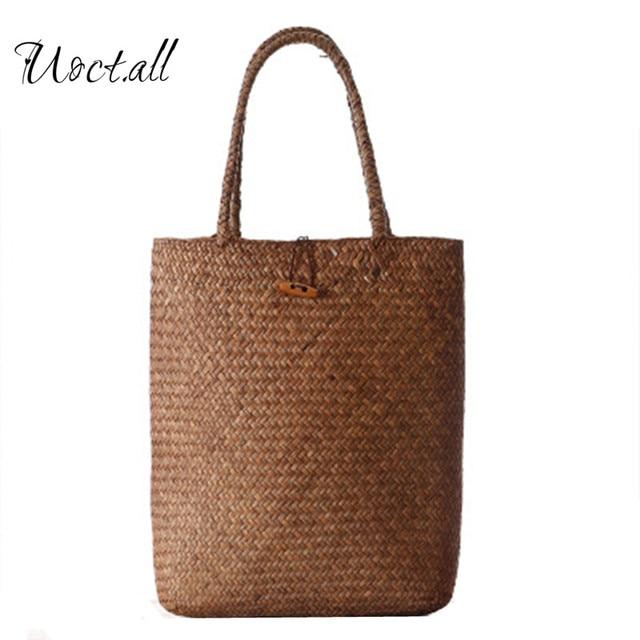 2018 New Summer Bag For Beach Straw Bags Handmade Woven Tote Women Travel Handbags Designer
