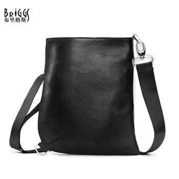 Briggs 새로운 도착 100% 정품 가죽 남자 가방 유명 디자인 브랜드 어깨 가방 남자 메신저 가방 망 가방 2018