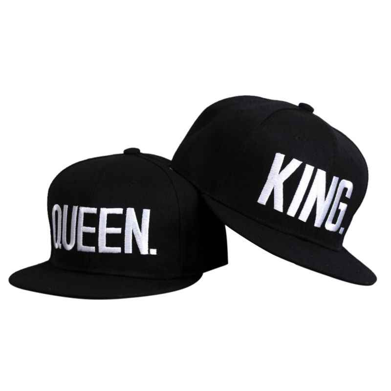 New King Queen Men Women Running Caps Embroidery Snap Back Hat Couple Cap Gifts Hip-hop Caps