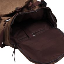 46cmx27cmx27cm coffee Large capacity man travel bag mountaineering backpack canvas bucket shoulder bag