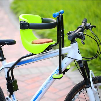 Wyprzedaż promocje 2019 nowy fotelik do roweru szosowego i górskiego fotelik bezpieczeństwa dla dziecka rower dziecięcy fotel przedni odpowiedni dla dziecka w wieku 0-6 lat tanie i dobre opinie TYUI Przednim siedzeniu maty Skóra 45*24cm Rowery górskie Child bike seat Blue red Children Bicycle Seats Stainless steel