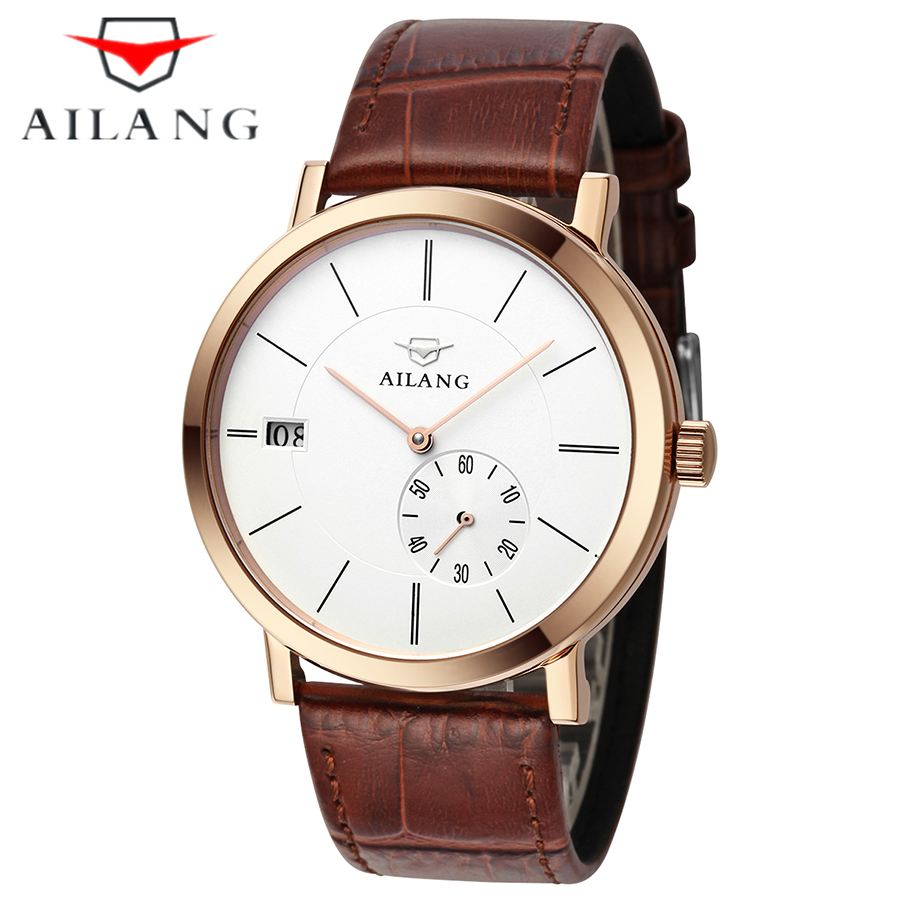Hot Sale Automatic Mechanical gold men Watch AILANG Luxury Brand Mechanical Wind Business Calendar Men Wrist Watch hot sale famous bp brand princess butterfly lady lucky clover watch austrian crystal automatic self wind wrist watch