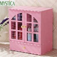 MYSTICA NEW Wooden Storage Box Jewelry Container Makeup Organizer Case Cosmetic Earrings Ring Display Organizer Wood Box Office