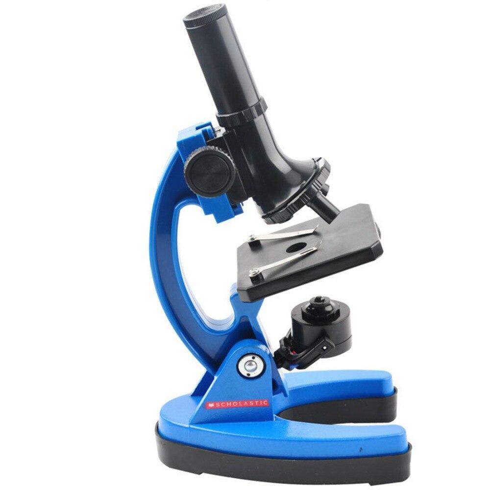 Durable des Élèves de Laboratoire 1200 Fois Enfants Métal Microscope Outil Kit Ensemble Enfants L'apprentissage Précoce de L'éducation La Science Jouets cadeau - 5