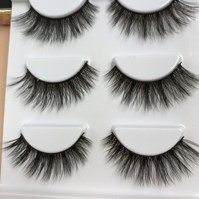 3 Pairs Charming Women 3D Natural Bushy Cross False Eyelashes Charm Handmade Eye Lashes Makeup Beauty Eyelash Extension False Eyelashes