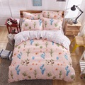 Cactus desert lattice AB side bedding sets bed sheet quilt cover / duvet cover pillowcase soft Queen Full Twin