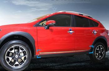 CAR ABS CHROME SIDE DOOR BODY PROTECTOR MOLDING COVER TRIM FOR 18 19  SUBARU XV 2018 2019 2020