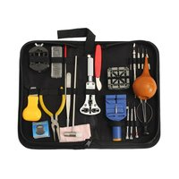 22PCS Professional Watch Repair Tool Kit With Storage Bag Magnifier Case Holder Band Holder Case Opening Knife Set