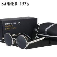 2017 HD polarized round metal sunglasses uv400 men's sun glasses feminin women's vintage gafas de sol metal GOGGLES with box