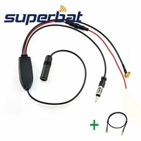 Superbat DAB Car Radio Antenna FM AM To DAB FM AM Aerial Amplifier Converter Splitter MCX