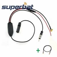 Superbat DAB Car Radio Antenna FM AM To DAB FM AM Aerial Amplifier Converter Splitter MCX