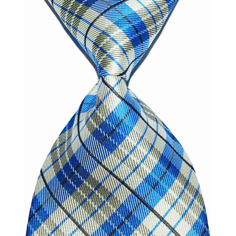 Plaid Suit Tie For Men Silk Necktie Tartan 10cm Width Male Fashion Jacquard Woven Formal Wear Business Wedding Party Classic New