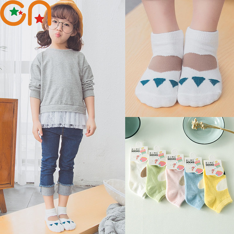 5 pairs/lot Girls Cotton fashion Socks Baby cute Bears paw Socks children Spring / Summer sports ship Socks Kids cheap stuff CN