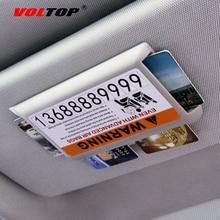 VOLTOP автомобильный козырек от солнца, для карт клип автомобильный украшения шоссе микросхемой чипом микропроцессорные карты ящик для хранения для временной парковочной бренд авто аксессуары для интерьера