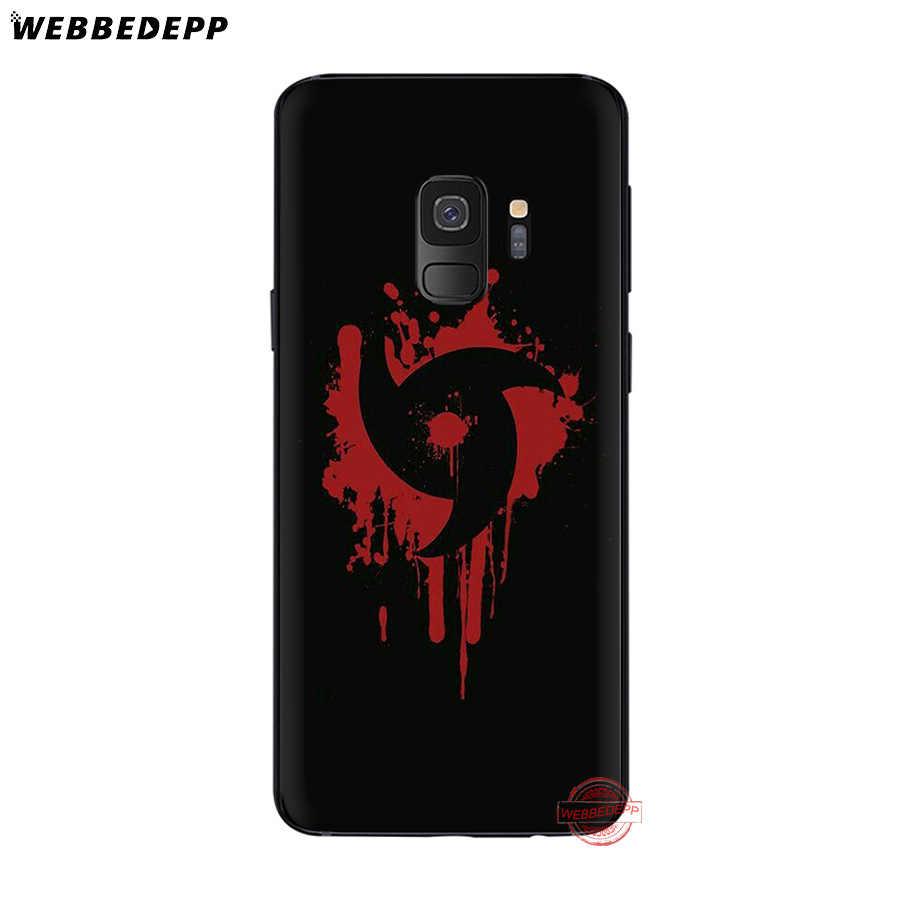 WEBBEDEPP Sharingan Naruto Rinnegan Soft Case para Samsung A3 A5 A6 A7 A8 A9 S6 S7 Borda S8 S9 S10e J6 Nota 8 9 10 Mais Casos 2018