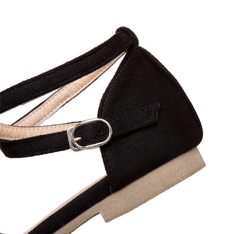 2019 Casual Zapatos Moonmeek Hebilla De Solo Rebaño rosado Venta Nuevo La Mujer Las Beige negro Caliente Planos Gran Mujeres Tamaño dpqYPp
