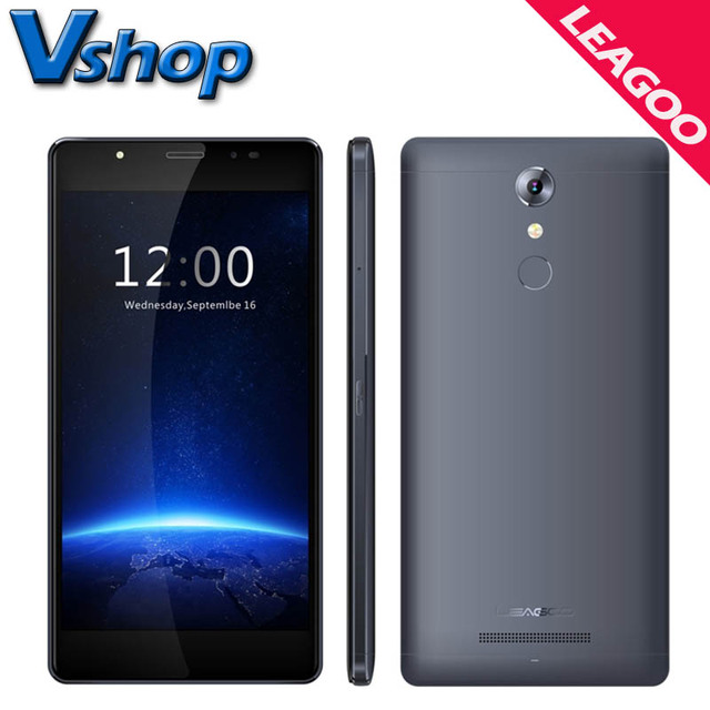 Original LEAGOO T1 Plus T1 4G LTE Mobile Phone MT6737 Android 6.0 5.5 inch 2.5D Arc RAM 3GB 2GB ROM 16GB Dual SIM Cell Phone