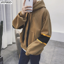 Autumn Hoodies Men Hooded High Street Pullover Fashion Casual Hip Hop Streetwear Sweatshirt Pocket