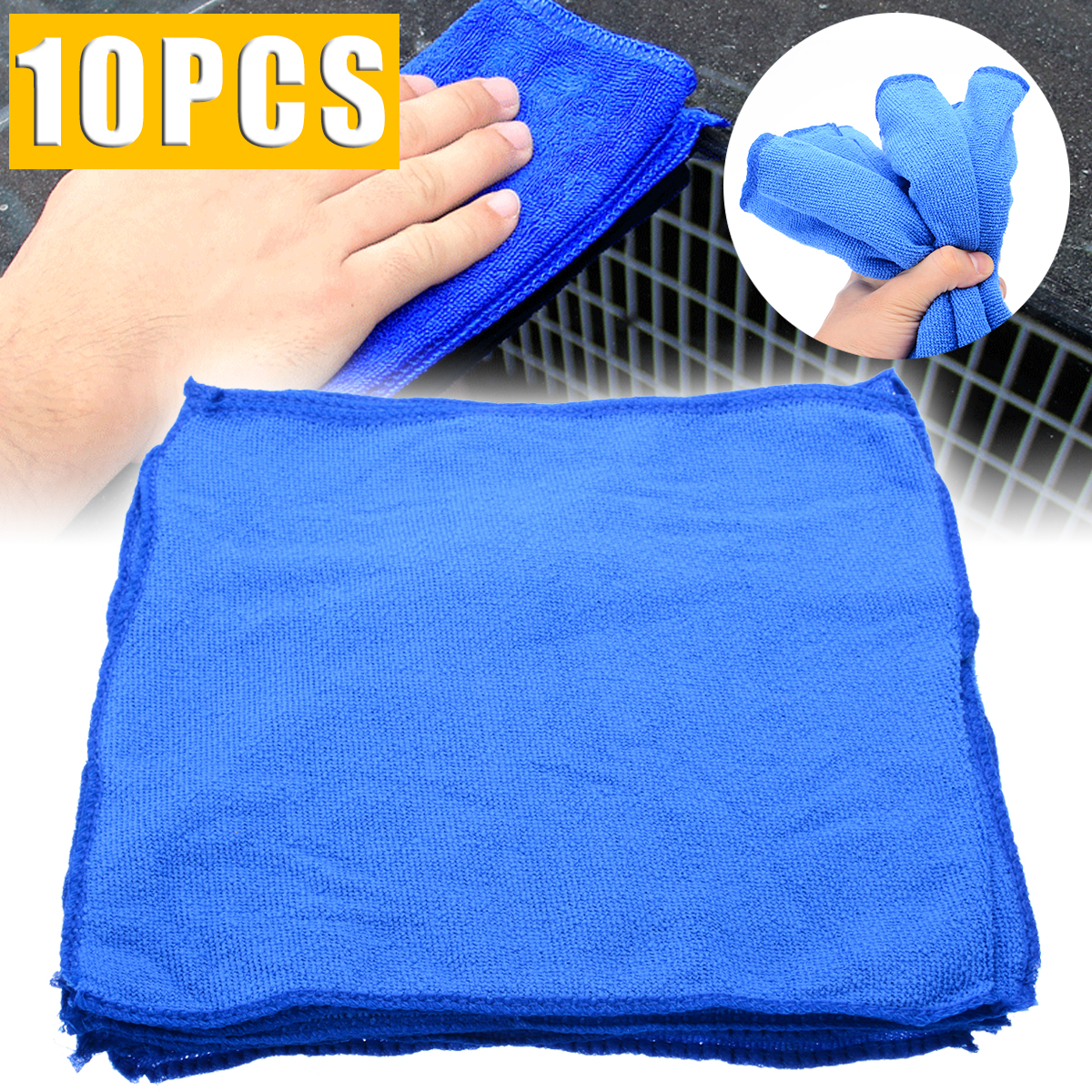 Image 3 - 10pcs Blue Microfiber Cleaning 30*30cm Auto Car Detailing Soft Microfiber Cloths Wash Towel Duster Home Cleaning Tools-in Car Washer from Automobiles & Motorcycles